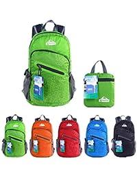 EGOGO Multifunzione 25L Zaino Trekking Pieghevole Peso Leggero Daypack Per Sportivo Outdoor Campeggio Alpinismo Arrampicata Viaggi S2212 (Verde)