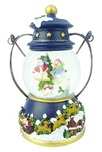 17cm Musical Weihnachten Laterne Dekoration mit Schneemann Wasser Globe + Farbe ändern LED Lichter ()