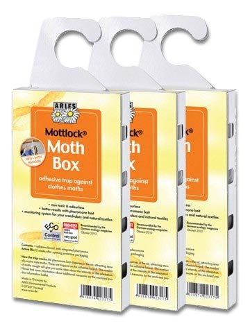 VALUE PACK of 3 Mottlock Moth Boxes from Aries