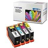 Liondo 4 Tintenpatronen Kompatibel zu Lexmark 100 XL Impact S305 S605 Interpret S405 Intuition S505 Pro 705 805 905 Prospect Pro 205 - Schwarz 22ml und Color (C,Y,M) je 12ml