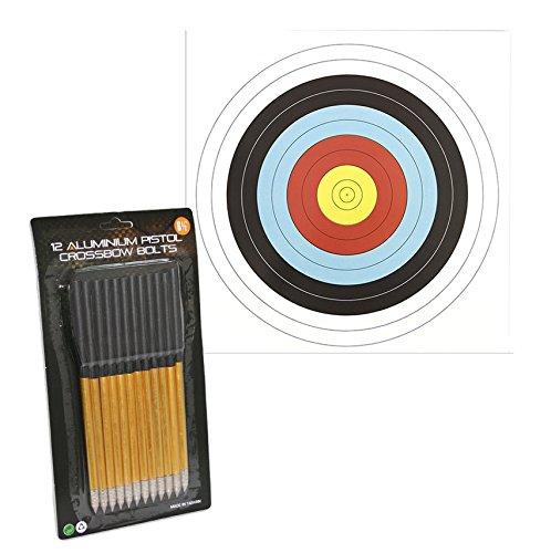 SET: 12 G8DS® Pfeile für Pistolenarmbrust Aluminium 6,5