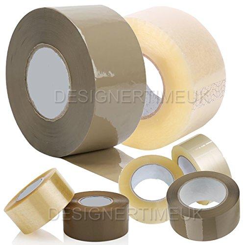 comtechlogic® cm-5098Low Noise 48mm x 150m braun/transparent Verpackung Klebeband für Pakete und Boxen. Heavy Duty braun Box Packband gibt eine starke, sichere und Sticky Dichtung für Ihr Boxen, braun