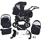 Stroller - Pram Complete with Car Seat and Carrycot Bomo 3in1 set (V41)