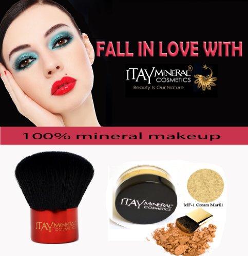 Fond de teint Itay Mineral Poudre Libre 2.5gr MF1-Cream Marfil + Pinceau Kabuki Glossy de Itay