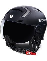 Briko Stromboli 1 Visor Casco Esquí, Unisex Adulto, Matt Black, 60-64