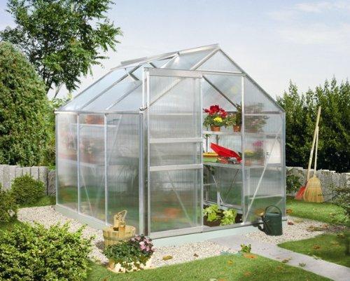 Pergart Calypso 4400 - Invernadero (4,4 m², aluminio, 6 mm planchas huecas)