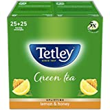 Tetley Green Tea Bags, Lemon And Honey (50 Tea Bags)