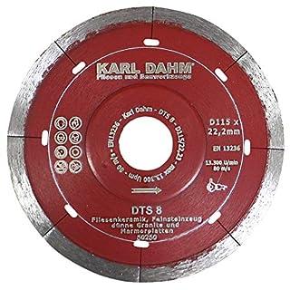 Karl Dahm Profi Diamant Trennscheibe SPEED 115 mm Fliese/Feinsteinzeug 50250-115 x 22,23 mm