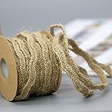 Monbedos Natur Jute Craft Ribbon handgeflochtenem