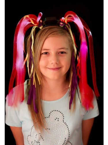 Smiffys 38377 - Spaghetti Heads Light Up, Action Dress Ups und Zubehör, neon rosa