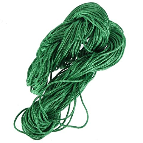 1mm Nylon Chinese Knot Cord Beading Macrame Rattail Bracelet Thread String Rope,Green