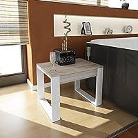 AlphaMoebel Arda - Tavolino, Tavolo da salotto, bianco/cordoba