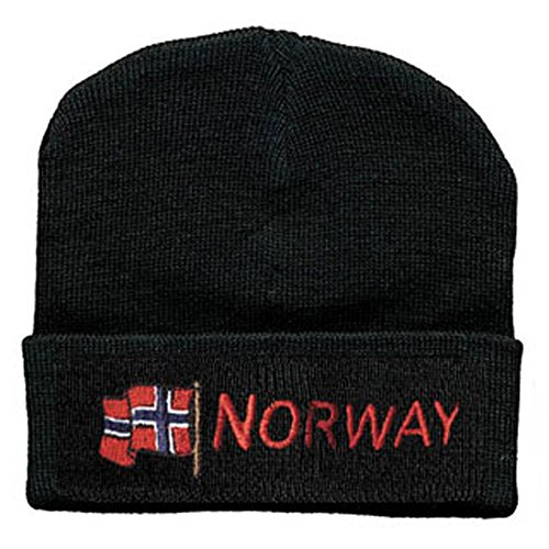 Hip-Hop Mütze wehende Flagge Norwegen NORWAY 51014 schwarz
