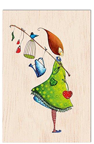 Cozywood® carta di legno - cartolina postale | motivi vari ogni carta è individuale e unico | cartolina d'auguri | congratulazioni | matrimonio | nascita del ragazzo o ragazza | compleanno | certificato fsc | ecologicamente sostenibile, # cozywood:everyday is a gift