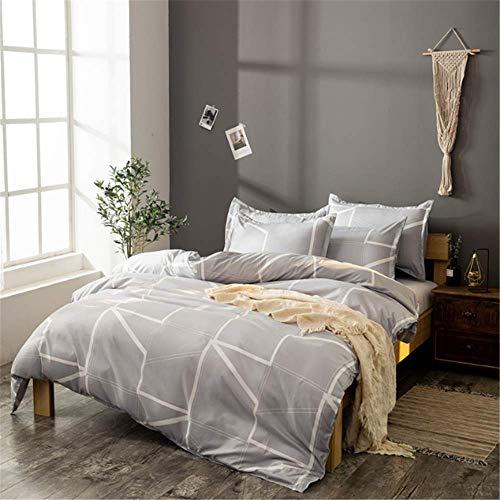 SHJIA Bettwäsche Set Tröster Bettwäsche Set Bettdecke Abdeckung Kissen Quilt Königin Größe Stepp B 260x230cm -