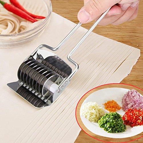 Manuelle nudeln spaghetti Schneider Teigschneider Upxiang Edelstahl Nudel Gitter Roller Praktische Küche Werkzeug Edelstahl Pasta Nudel Maker Spaghetti Maschine (A)