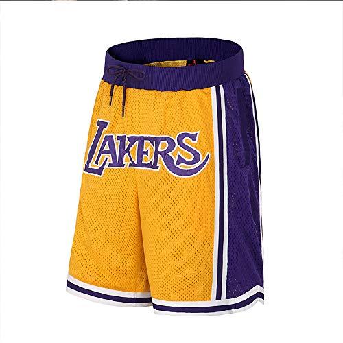 Jungen Shorts Abgeschnitten (SDSPORT Herren Basketball Jersey Hose Lakers 23