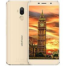 Ulefone S8 Pro - Smartphone Libre, Android 7.0 4G Smartphone, Moviles Libres Baratos 0.5mm Bezel 5.3 Pulgadas Pantalla HD 1280*720, Escáner de Huellas Digitales, 2 GB de RAM + 16 GB de ROM, Doble Cámara 13M/5MP + 5MP, Quad-Core MT6737 - NEGRO (ORO)