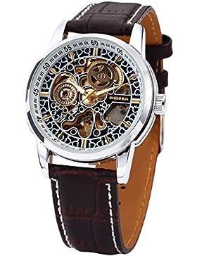EASTPOLE Elegante Klassisch mechanische Automatik Herrenuhr Armbanduhr Uhr + EASTPOLE Geschenkbox PMW074