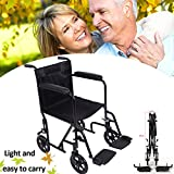 Panana All AID Lightweight Transit Comfortable Portable Folding Travel Wheelchair With Brakes