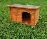 Rohrschneider Hundehaus, Hunde-Häuser, Hundehütte mit Flachdach Größe 1, Maße: ca. 58 x 85 x 59 cm