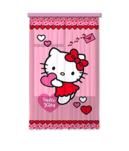 Ag design tende/tenda fcs l 7513, hello kitty, 140 x 245 cm, 1 parte