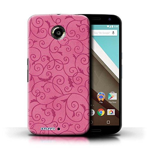 Kobalt® Imprimé Etui / Coque pour Motorola Nexus 6 / Rouge conception / Série Motif de la vigne Rose