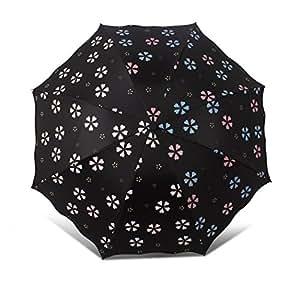 Ai-life Ombrello da Cambia Colore Quando è Bagnato, Creativo Ombrello Pieghevoli Antivento, Anti-UV Ombrello Principessa Soleggiato Umbrella Umbrella Protezione Solare, Cambiano Colore con la Pioggia