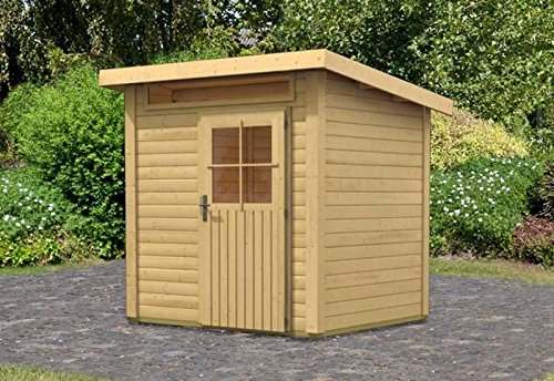 Karibu Woodfeeling Gartenhaus Kulpin 2 natur 28 mm Außenmaß (B x T): 204 x 173 cm Dachstand (B x...