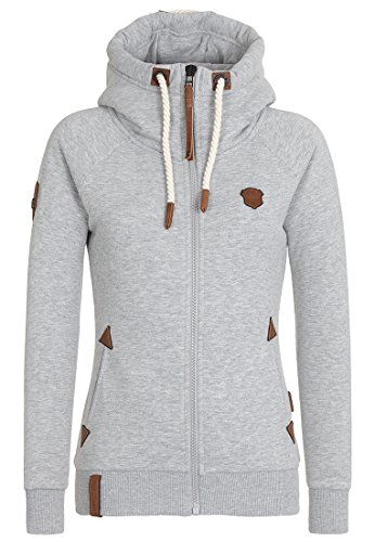 Naketano Female Zipped Jacket Blonder Engel Grey Melange, L