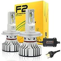 CATIZON Kit de conversión de bombillas para faros LED - H4 (9003), CREE Chips 72W 12000LM Cool White 6500K, 2 años de garantía