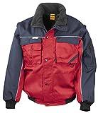 RT71 Workguard Heavy Duty Jacke Arbeitsjacke winddicht wasserabweisend, Farbe:Red-NavyGrößen:XL XL,Red-Navy