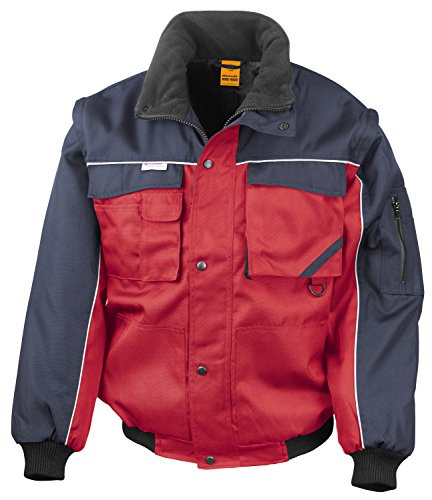 RT71 Workguard Heavy Duty Jacke Arbeitsjacke winddicht wasserabweisend, Farbe:Red-Navy;Größen:L L,Red-Navy