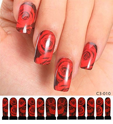 Stickers Pour Ongles avec des - C3-010 Nail Sticker Tattoo - FashionLife