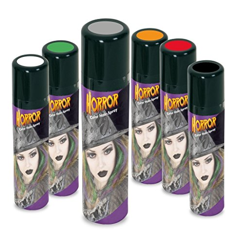 KarnevalsTeufel Color Hair-Spray Horror bunte Farben Haarschmuck (grau) (Haarspray Grau Halloween)