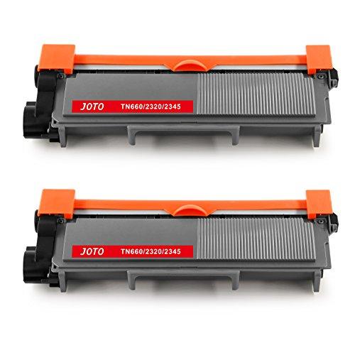 JOTO TN2320 TN2310 Toner Kompatibel für Brother TN 2320 TN-2320 TN 2310 TN-2310 Toner Hohe Kapazität (2 Schwarz) Ersatz für Brother DCP-L 2500D DCP-L2520DW DCP-L2540DN HL-L2365DW DCP-L2700DW HL-L2300D