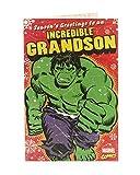 Marvel Comics Grandson carte de Noël-avec l'incroyable Hulk.