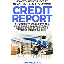 How to Remove Every Negative Items from Your Credit Report: The Complete Beginner to Pro Guide on How to Geometrically Increase your Credit Rating without Spending a Dime (English Edition)