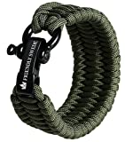 The Friendly Swede Trilobite Extra Beefy 500 lb Paracord Survival Bracelet with Stainless