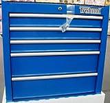 Trakrange 27Kommode mit 5Schubladen Schrank–Rolle Blau