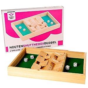 Longfield Games 300410 Juego de Dados - Juegos de Dados (Cube (6 Sides), Adultos y niños, 340 mm, 240 mm, 40 mm, Caja)