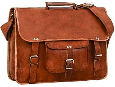 """Gusti Cuir nature """"Tom"""" sac pour ordinateur serviette sac business sac à bandoulière besace sacoche en cuir tablette notebook homme femme marron U27n-2"""