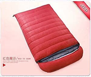 ZHUDJ Down Sleeping Bag, Outdoor Fishing Room, Adult Light Double Thickening Sleeping Bag,Big Red,3500 Grams from ZHUDJ