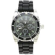 VANKER Hierbas reloj de pulsera de silicona banda de Aleación de zinc Grinder pesada rueda de Spike Trituradora -- Negro
