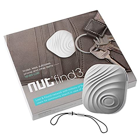 Nut Find3 Bluetooth Smart Anti-verloren Tracker Key Finder Portemonnaie Finder Real Time Location One Touch Finden Bidirektionale Alarmierende für iOS/Android (Gray) TH444