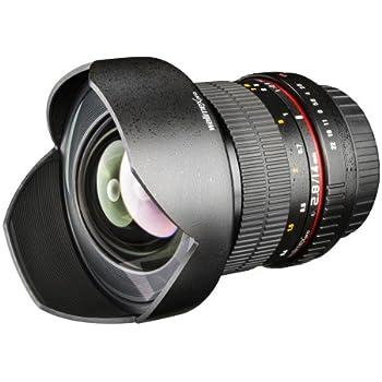 Walimex Pro 14 mm f1:2,8 Festbrennweite manueller Fokus Weitwinkelobjektiv für Canon EF Mount Kamera Objektiv für Spiegelrefelxkamera für Canon EOS 1300D 1200D 6D Mark II 5D Mark II 7D 5D 80D