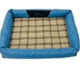 Driverder Haustier liefert Geschenk Atmungsaktive Pet Cooler Kühlbett Haustier Cooling Mat (Blau, L)