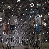 LHWY Weihnachtsaufkleber Deko Wand-Fensteraufkleber Engel Schneeflocke Weihnachten Xmas Vinyl Art Dekoration Abziehbilder (Weiß)