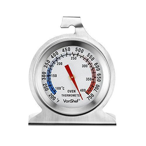 VonShef Thermomètre de Cuisson avec Socle - Acier Inoxydable