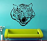 Tiger Wall Decal Predatory Animal Vinyl Sticker Animals Wall Decor Wall Art Decorations (8tr)